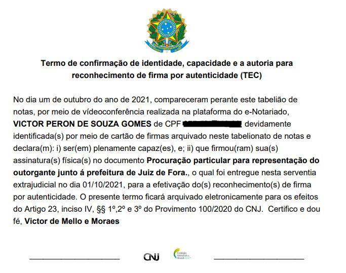 1º Ofício De Notas De Matias Barbosa Realiza O Primeiro Reconhecimento De Firma Por Autenticidade Online