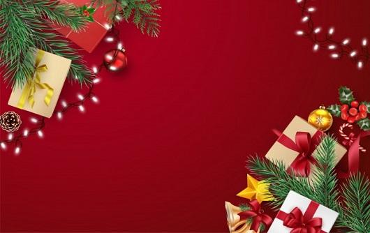 Cartao De Felicitacoes De Natal E Feliz Ano Novo Composicao Dos Elementos Com Decoracoes De Natal 80623 239