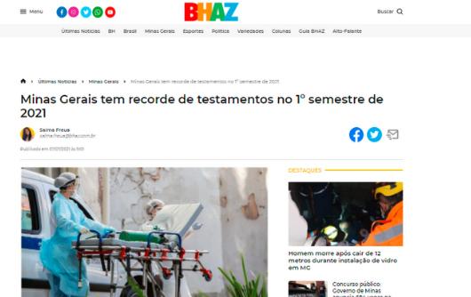 BHAZ – Minas Gerais Tem Recorde De Testamentos No Primeiro Semestre De 2021
